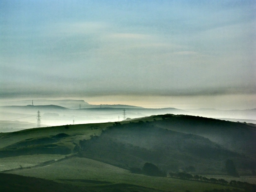 Early Morning Mist hangs over Dorset